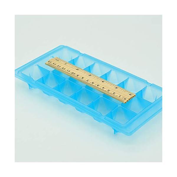vitihipsy 18 Griglie vasche per Gelato Facile Rilascio Ice Cube Maker contenitori per muffe Fai da Te Vassoio del cubo… 4 spesavip
