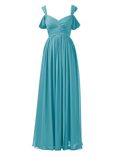 Dress Chiffon Bridal Turquoise Evening Long Bridesmaid Line Gown Prom Alicepub A Party Dress qUzwa