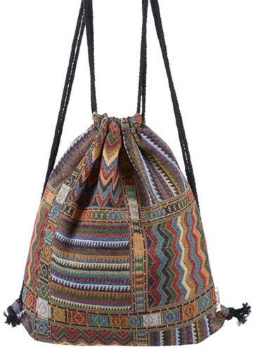 HITOP Harajuku Unisex Backpack Geometric Pattern Leisure Travel Drawstring Bag