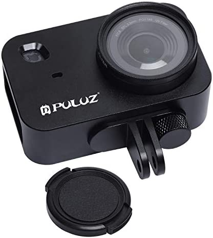 Housing Shell CNC Aluminum Alloy Protective Cage with 37mm UV Filter Lens for Xiaomi Mijia Small Camera Reliable Color : Black