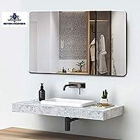 Seven Horses Corner Round Bevelled Wall Mirror (18 Inch X 24 Inch)
