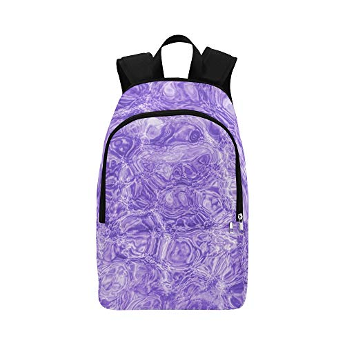 (GIRLOS Abstract Ultra Violet Mystery Blur Casual Daypack Travel Bag College School Backpack for Mens and Women)