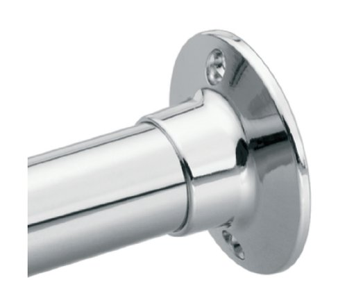 Shower Rod Flange (Moen 63-F Donner Shower Rod Flange Set, Chrome)