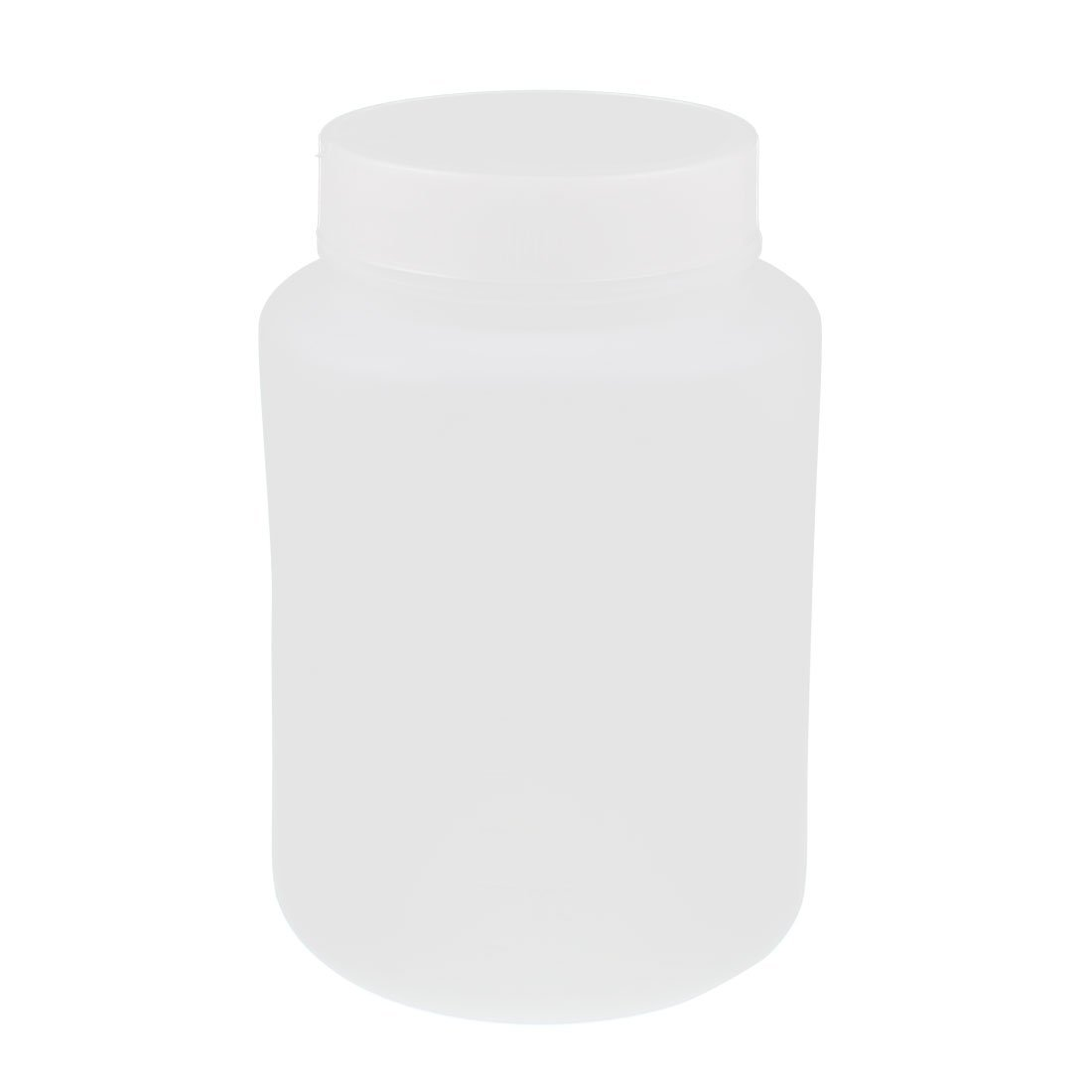 sourcingmap Lab Screw Lid Wide Mouth White Plastic Storage Reagent Bottle 250mL SYNCELEC001872