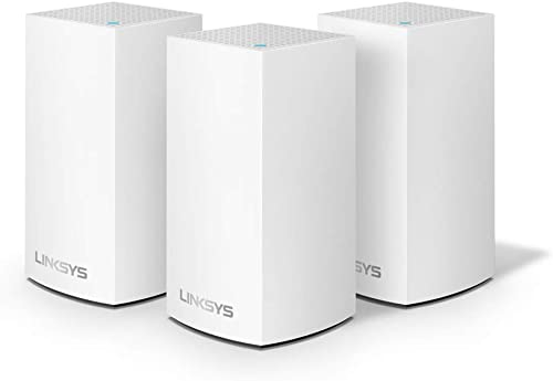 Linksys Velop Home Mesh Wi-Fi System Wi-Fi Router Wi-Fi Extender for Whole-Home Mesh Network 3-Pack, White