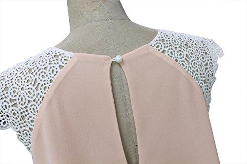 JXLOULAN Summer Womens dentelle sans manches en mousseline de soie lâche et confortable robe de plage