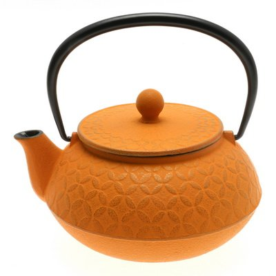 Iwachu Japanese Gold/Orange Seven Jewels Iron Tetsubin Teapot, 48-946 by 123kotobukijapanstore