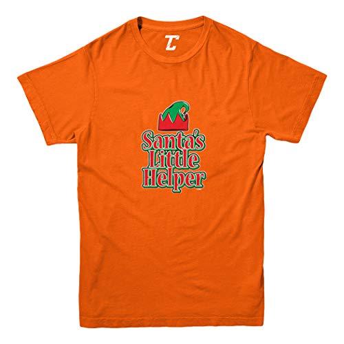 Santa's Little Helper - Elf Christmas Youth T-Shirt (Orange, Large)