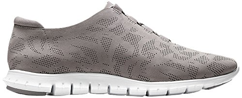 Cole Haan Womens Zerogrand Perforated Trainer Fashion Sneaker Ironstone Perf Nubuck-ottico Bianco
