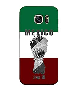 ColorKing Football Mexico 05 Multi Color shell case cover for Samsung S7