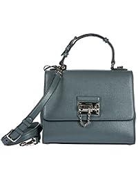 Dolce&Gabbana women's leather handbag shopping bag purse grey