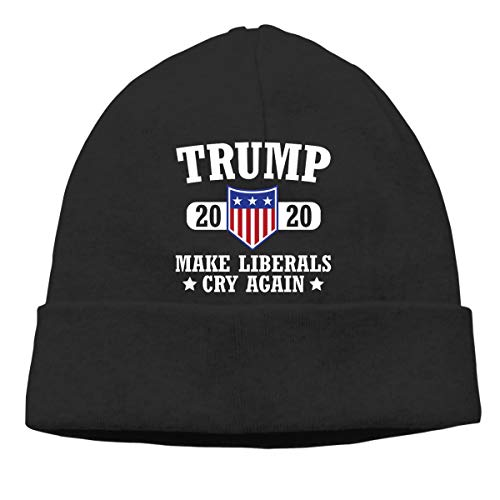 Insomnia Space President Trump 2020 - Keep America Great Knitted Hat Autumn and Winter Beanie Hat Universal Headgear Black