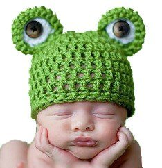 Lowestbest Baby Infant Cute Frog Hat Costume Photography Props 0-6 Months Newborn for Christmas (Christmas Costumes Baby)