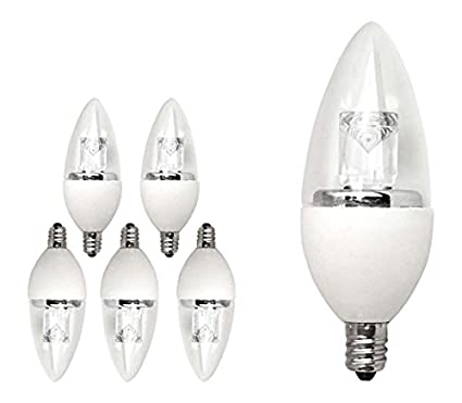 TCP LED Deco Chandelier Light Bulbs, Small Candelabra Base, 40 Watt ...