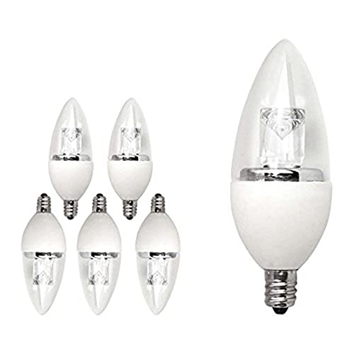 Wonderful TCP LED Deco Chandelier Light Bulbs, Small Candelabra Base, 40 Watt  Equivalent, Dimmable, Soft White (2700K) (6 Pack)