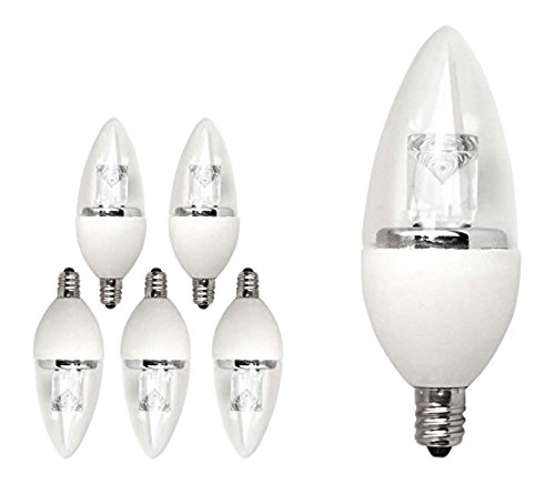 TCP 40 Watt Equivalent LED Deco Chandelier Light Bulbs, Small Candelabra Base, Dimmable, Daylight (6 Pack)