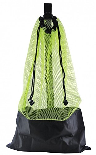 (YELLOW SNORKEL BAG! MESH DRAW STRING W/ SHOULDER STRAP)