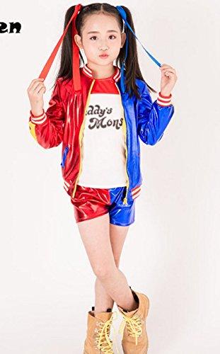 ... L) Disfraz - Harley Quinn - Niños - Carnaval - Halloween - Cosplay -  Suicide Squad - Película - Idea de Regalo - Niñas  Amazon.es  Juguetes y  juegos 1b09cd58437c