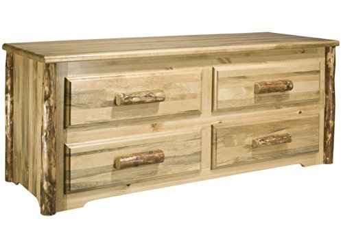 Montana Woodworks MWGCSC Glacier Country Collection 4-Drawer Sitting Chest Stain and ()