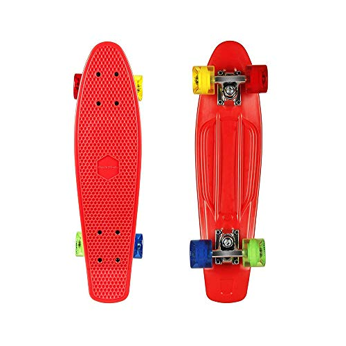 ohderii Complete Longboard Skateboards Cruiser Skateboard Through Downhill Skateboard Deck Concave Skateboards for Beginners and Pro