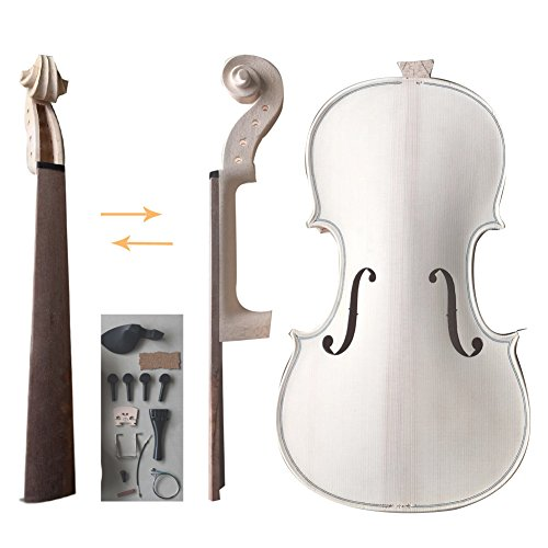 Zimo Make Your Own Violin Full Size 4/4 Natural Acoustic Violin DIY Kit