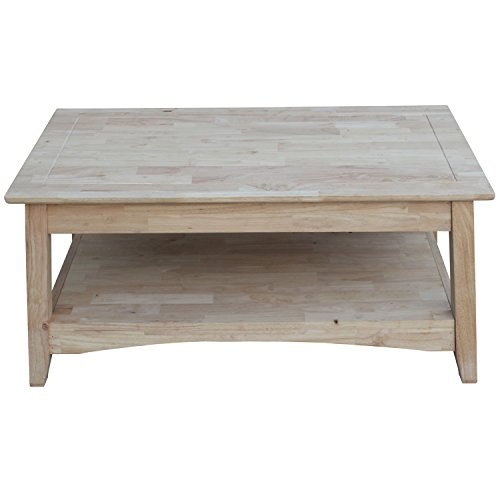 - International Concepts OT-4TCL Bombay Tall Coffee Table, Unfinished