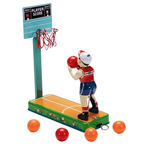 Japanese Cool Retro Style Vintage Basketball Player Sports Tin Toy