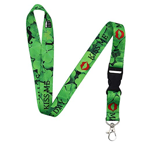 Lanyard-Lanyards for Women/Men-ID Lanyard-Key Lanyard-University Lanyard -Premium Soft Silky Wide Strapped Beautifully Printed Lanyard with Safe Removable Buckle & Spring Clip ()