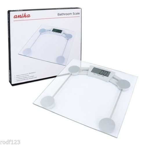 150kg Clear Glass Electronic LCD Digital Bathroom Weighing Body Scales