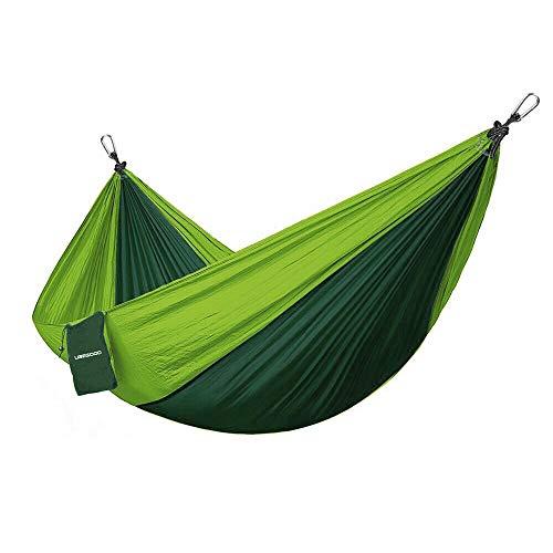UBEGOOD Double Camping Hammock, Portable Nylon Parachute Double Hammock for Outdoor Backpacking Hiking Camping Travel Garden Swings, Heavy-Duty 500lbs by UBEGOOD