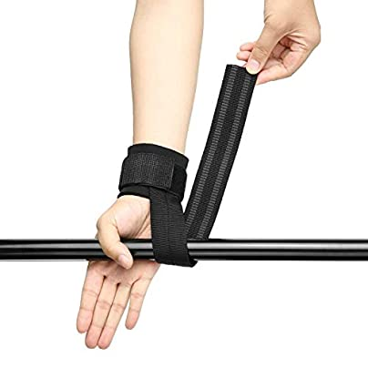 Pair Wristband Gym Training Weightlifting Hand Bar Wrist Support Hand Protection Belt Grip Straps Hand Wrist Brace Estimated Price £22.63 -