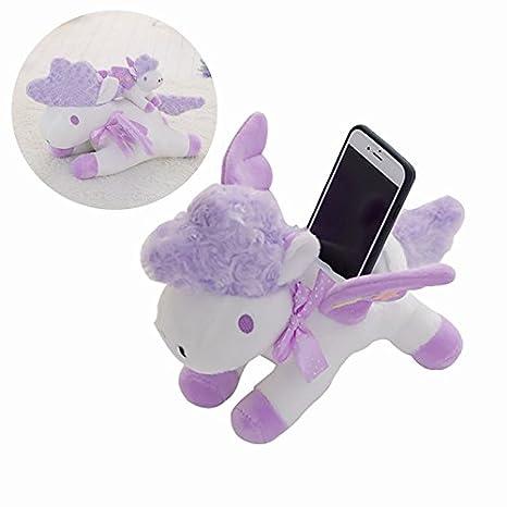 23cm 9.05/'/' Unicorn Doll With Phone Holder Seat Stuffed Plush Cute Cartoon Anima