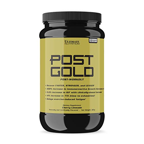 Ultimate Nutrition Post Gold Post-Workout Muscle Recovery Fatigue Reducing Powder with Glutamine, Cherry ()