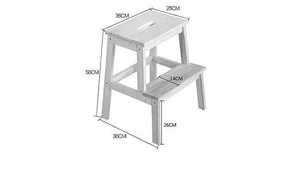 GBXX Fashion Creative Muebles pequeños Taburete antideslizante Escalera Taburete Escalera de escalera Escalera de escalera Escalera de seguridad Escaleras de madera Escalera de casa Taburetes de escalera Taburete alto Multifunción Hogar Creativ: