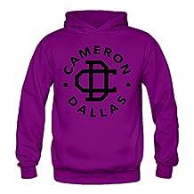 Caili Women's Cameron Dallas Logo Hoodies Sweatshirts XXL Purple