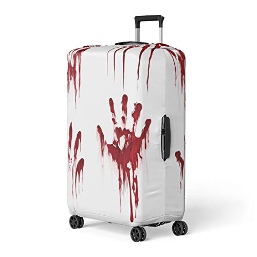 Pinbeam Luggage Cover Bloody Hand Horror Scary Blood Dirty Handprint Travel Suitcase Cover Protector Baggage Case Fits 18-22 inches ()