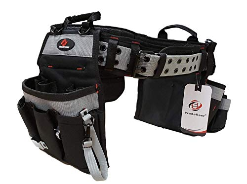 TradeGear Part#SZB Electrician's Belt & Bag Combo - Heavy Duty Electricians Tool Belt Designed for Maximum Comfort & Durability - Ideal for All Electricians Tools - Fits Sizes XL - 3XL (40