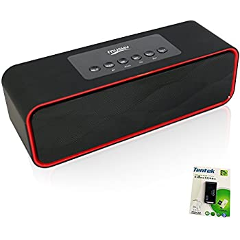 Portable Bluetooth Stereo Speaker, with 2X5W Dual Acoustic Drivers,FM Radio & Handsfree Speakerphone, Micro SD Card & USB & AUX Slots for Smart Phone, MP3, ...