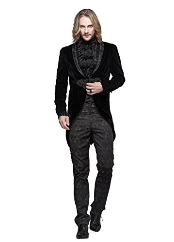 Steampunk Gothic Jacket Victorian Tailcoat Mens Clothing Punk Renaissance Cyberpunk Halloween Costumes (Goth Halloween Costumes For Kids)