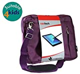 Navitech Purple Sleek Premium Water Resistant Shock Absorbent Messenger Bag Compatible with The LCD Writing Tablet