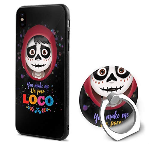 Oknight Coco Poco Loco Cell Phone Case Compatible for iPhone X with Ring Bracket White