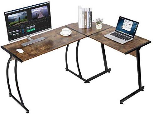 Best home office desk: ZenStyle L-Shape Corner Computer Desk Home Office PC Laptop Table Multipurpose Gaming Workstation
