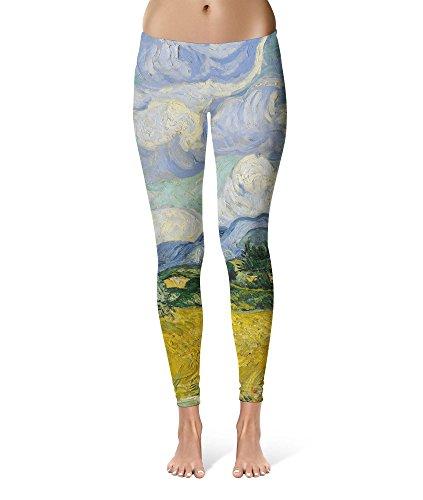 Van Gogh Painting Costume (Vincent Van Gogh Fine Art Painting Sport Leggings - Full Length, Mid/High Waist)