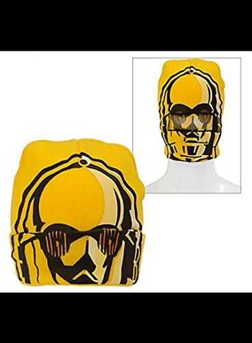 [C-3PO Roll-Down Mask Beanie - Star Wars] (C3po Mask)