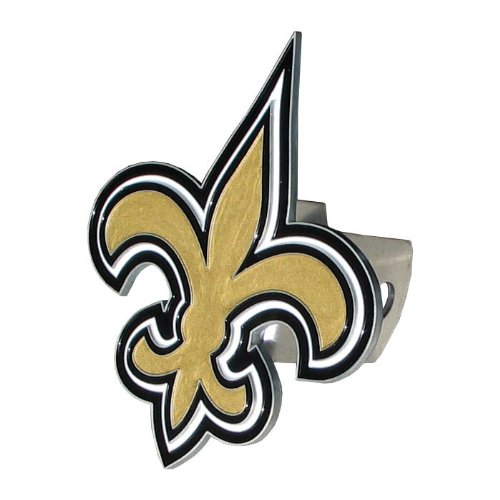 Siskiyou NFL New Orleans Saints Large Logo Hitch Cover, Class II & III