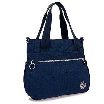 Amazon.com: Mujer Ligero Nailon práctica bolsa de hombro ...