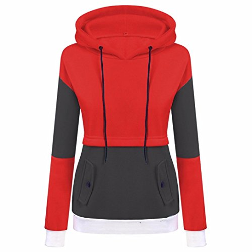 Women Hoodie Hot Sale New Fashion Long Sleeve Tops Hoodie Sweatshirt Jumper Loose Pullover by Neartime (XL, D) by NEARTIME