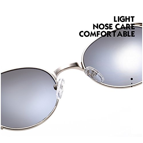 Protection Steampunk Rond de Bmeigo Retro métallique UV Lunettes Cercle Unisex soleil lunettes Marron RHAqUx6P