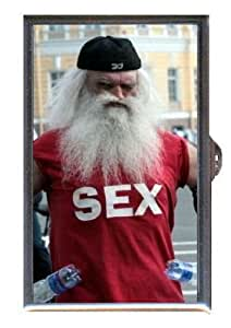 ugly old man beard sex weird guitar pick or pill box usa made health personal care. Black Bedroom Furniture Sets. Home Design Ideas