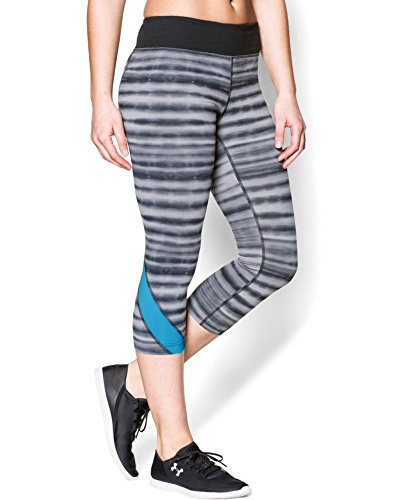 "Under Armour Women's UA Take-A-Chance 20"" Printed Capri Large Black"
